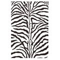 Contemporary Hand-Tufted Zebra-Stripe Wool Rug (5' x 8')