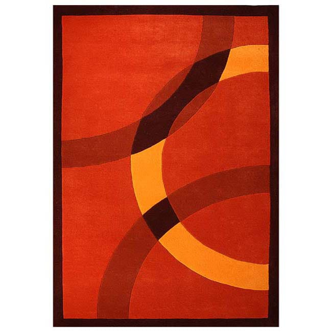 Hand-tufted Mystical Orange Wool Rug (5' x 8')