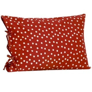 Cotton Tale Houndstooth Red and White Polka Dot Pillow Case with Ties
