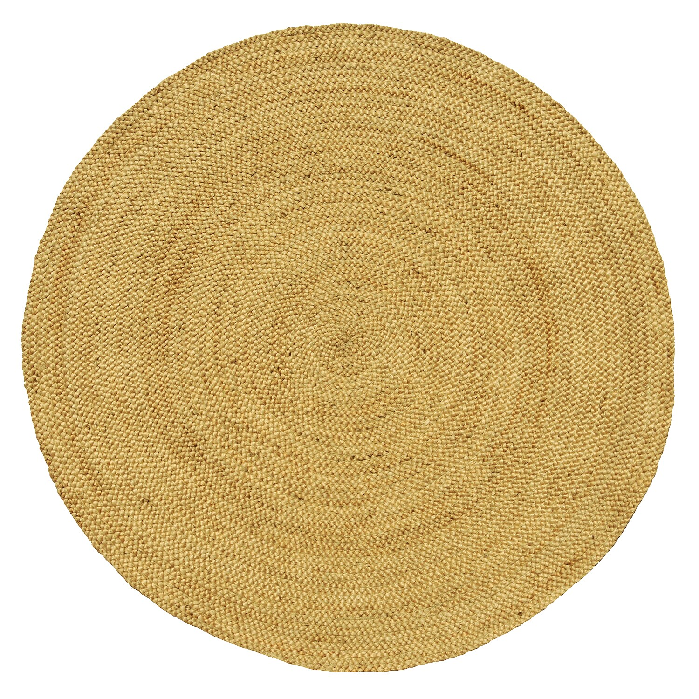 Overstock.com Hand-woven Braided Natural Jute Rug (6' Round)