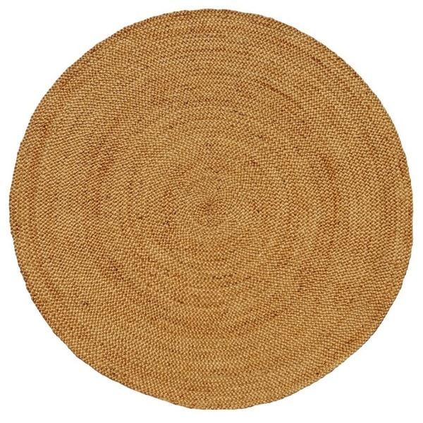 Hand-woven Braided Natural Jute Rug (6' Round)