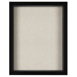 Americanflat 11x14 Inch Shadow Box Frame with Soft Linen Back - Perfect to Display Memorabilia, Pins, Awards, Medals, and Photos