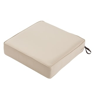 Classic Accessories Montlake Water-Resistant 21 x 21 x 5 Inch Patio Seat Cushion, Antique Beige