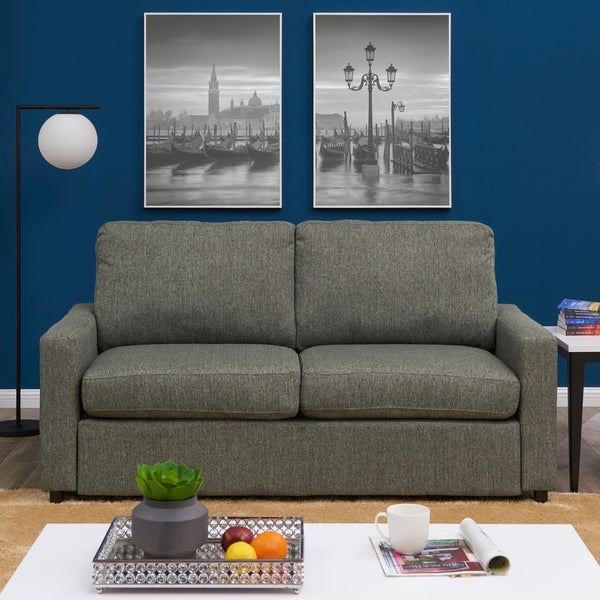 Handy Living Estes Park Charcoal Grey Sofa Sleeper 36196993