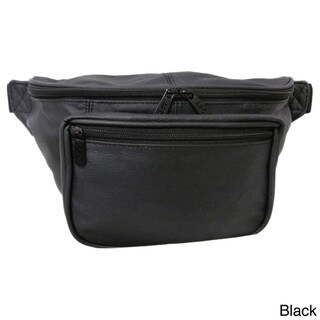 Amerileather Jumbo-size Leather Fanny Pack