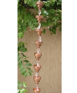 Copper Bamboo Rainchain