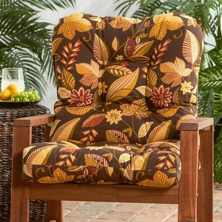 Dana Point Outdoor Woodsy Floral Seat/ Back Combo Cushion by Havenside Home - 21w x 38l