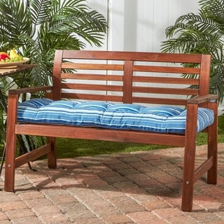 Cocoa Beach 18-inch x 51-inch Outdoor Bench Cushion in Coastal Stripe by Havenside Home