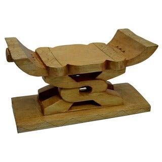 Hand-carved Ashanti Unity Stool (Ghana)