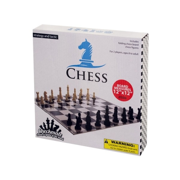 Bulk Buys Folding Chess Game - Pack of 10 - Black/White 36324990