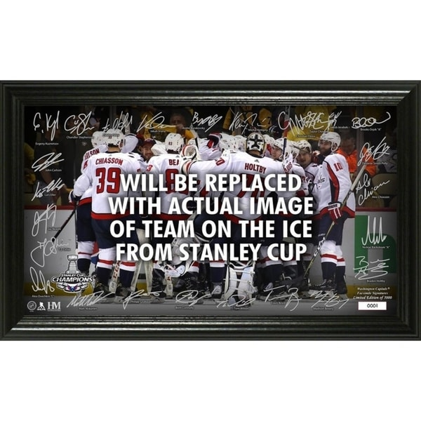 Washington Capitals 2018 Stanley Cup Champions Signature Rink 36332911