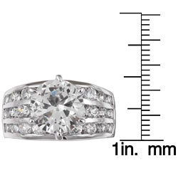 Sterling Essentials Sterling Silver CZ Wedding Ring