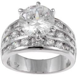 Sterling Essentials Sterling Silver CZ Wedding Ring