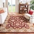 Handmade Heritage Kashan Burgundy/ Black Wool Rug (2' x 3')
