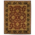 Handmade Heritage Kashan Burgundy/ Black Wool Rug (8&#39;3 x 11&#39;)