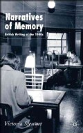 Narratives of Memory: British Writing of the 1940s (Hardcover)