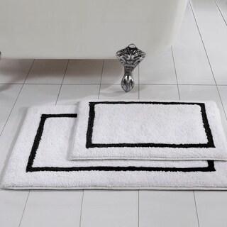 Modern Threads 2-Pack Reversible Contrast Stripe Bath Mat Set
