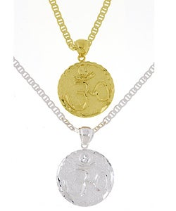 Simon Frank 14k Goldplated Aum Medallion