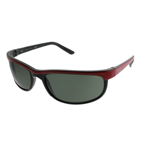 Ray-Ban Sport RB 2027 Predator 2 6300 Unisex Red on Black Frame Green Lens Sunglasses 36490145