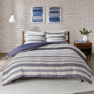 Urban Habitat Mason Stripe Print Ultra Soft Cotton Blend Jersey Knit Duvet Cover Set