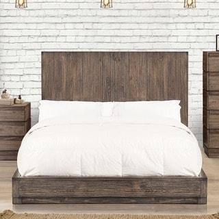 Furniture of America Remings Industrial Natural Tone Platform Bed