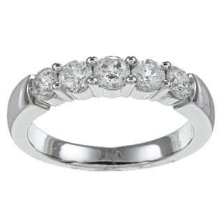 14k White Gold 1ct Diamond 5-stone Prong Band (G-H,I1)