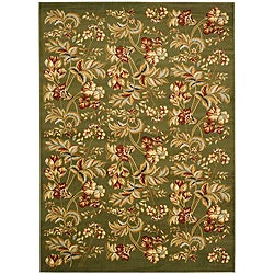 Lyndhurst Collection Floral Sage Rug (5'3 x 7'6)