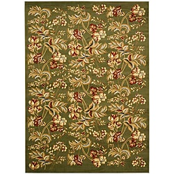 Lyndhurst Collection Floral Sage Rug (8' x 11')