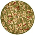 Lyndhurst Collection Floral Sage Rug (8' Round)