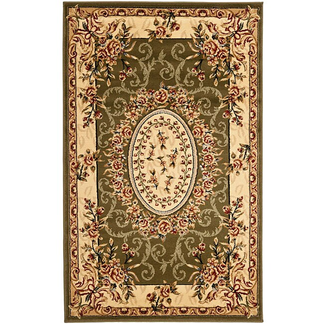 Safavieh Lyndhurst Collection Aubussons Sage/ Ivory Rug (3'3 x 5'3)