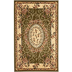 Lyndhurst Collection Aubussons Sage/ Ivory Rug (3'3 x 5'3)