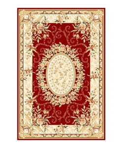 Safavieh Lyndhurst Collection Aubussons Red/ Ivory Rug (3'3 x 5'3)