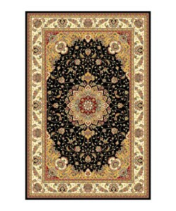 Safavieh Lyndhurst Collection Traditional Black/ Ivory Rug (4 x 6)