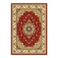 Lyndhurst Collection Red/ Ivory Rug (4' x 6')