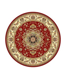 Safavieh Lyndhurst Collection Red/ Ivory Oriental Rug (8' Round)
