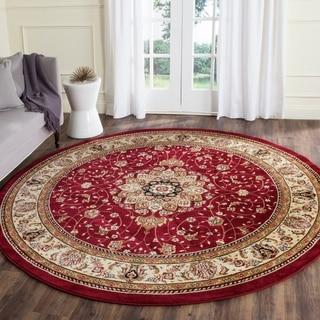 Safavieh Lyndhurst Collection Red/ Ivory Oriental Rug (8' Round)