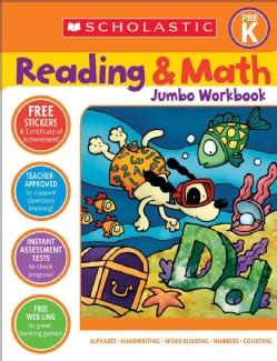 Scholastic Reading & Math Jumbo Workbook Grade Pre-k (Paperback)