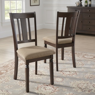 Lynn Espresso Finish Upholstered Dining Chairs (Set of 2) by iNSPIRE Q Classic