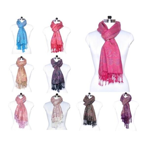 "Women Pashmina Cashmere Fashion Paisley Scarfs Shawl Wrap Winter Scarves - 27""x72"" 36608361"