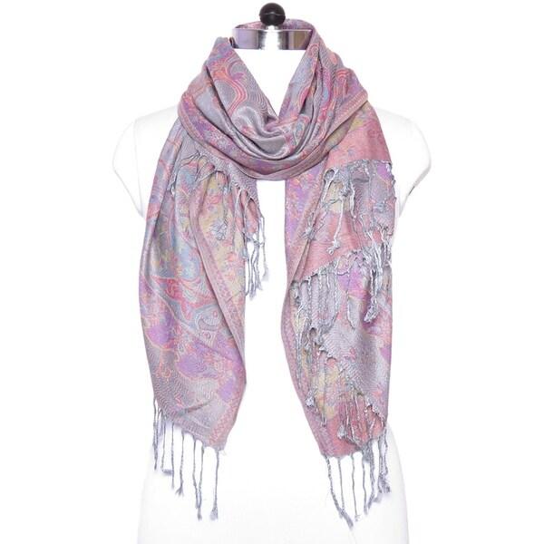 "Festival Women Scarf Pashmina Cashmere Shawl Paisley Scarves Shawls Gift For Her Him Wedding Wrap - 27""x72"" 36608362"