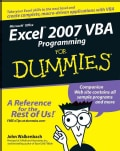Excel 2007 VBA Programming for Dummies (Paperback)