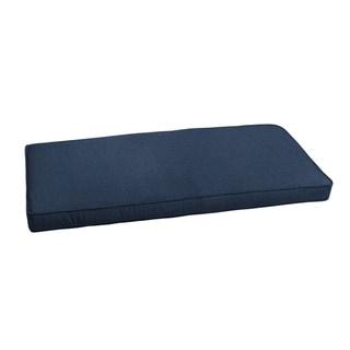 "Sunbrella Indigo Blue Indoor/ Outdoor Bench Cushion 55"" to 60"", Corded"