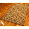 Honeycomb Polypropylene Area Rug (3'11 x 5'6)