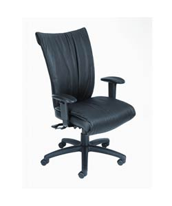 Boss Executive High-Back Bonded Leather Task Chair