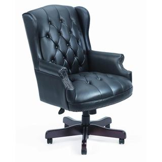 Boss Black Traditional High-Back Executive Chair