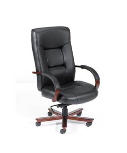 Boss High-Back Italian Top Grain Leather Executive Chair