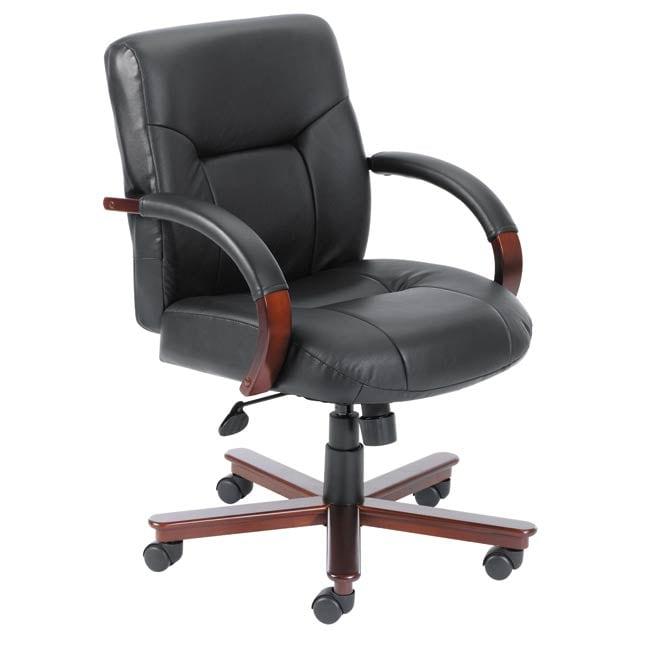 Boss Mid-back Italian Top Grain Leather Executive Chair