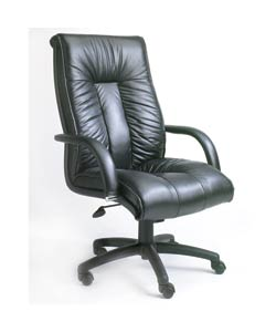 Boss Executive Italian Leather High-back Chair