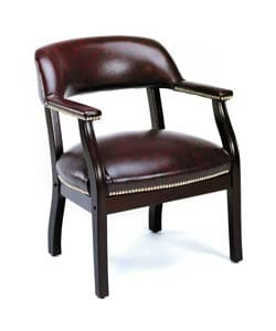Boss Traditional Mahogany Reception Chair