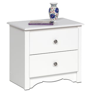 Winslow White 2-drawer Nightstand